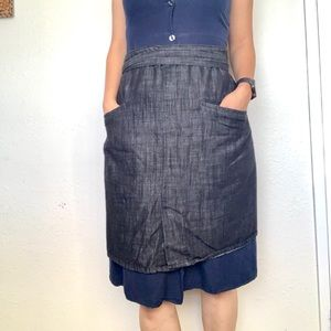 🖐🏼🥳 5/$25 Denim Half Apron Skirt EUC NWOT